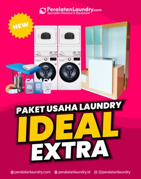 paket usaha laundry mesin tumpuk hemat