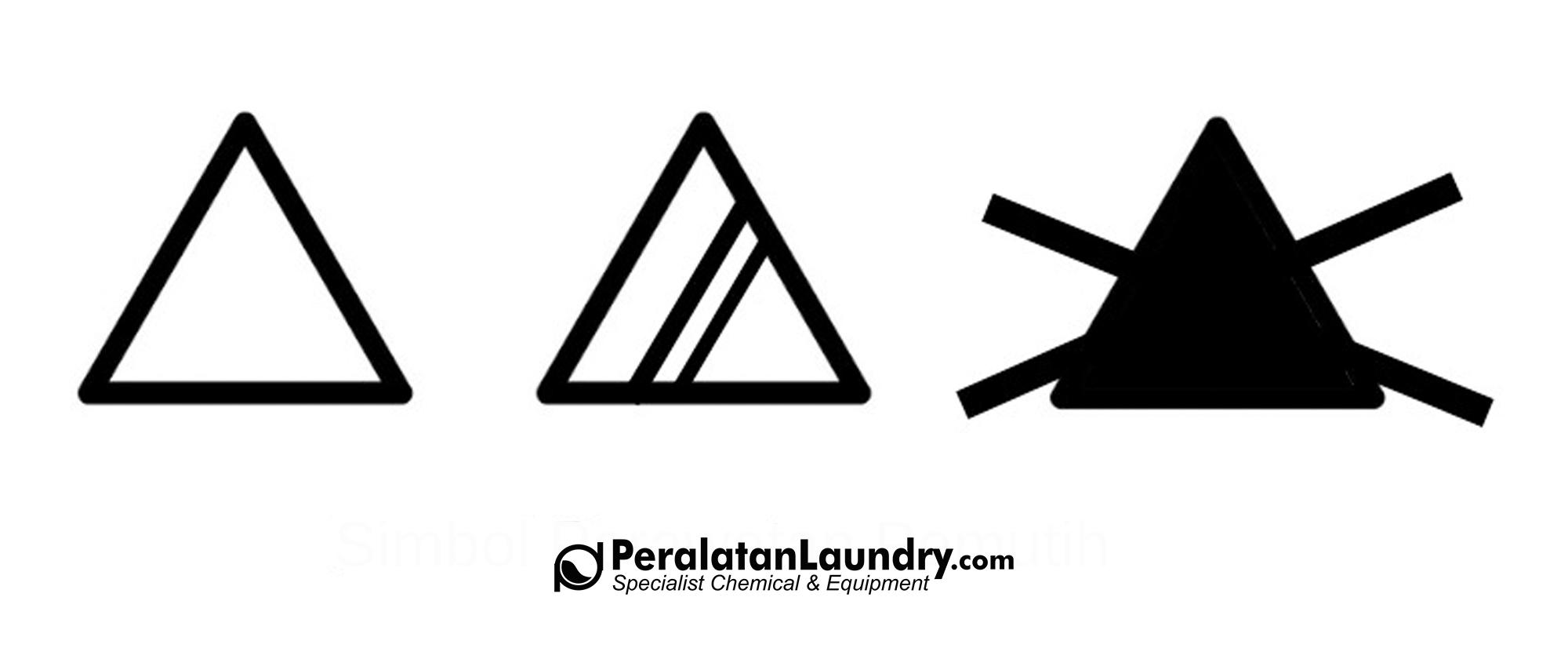 simbol bleaching perawatan pakaian