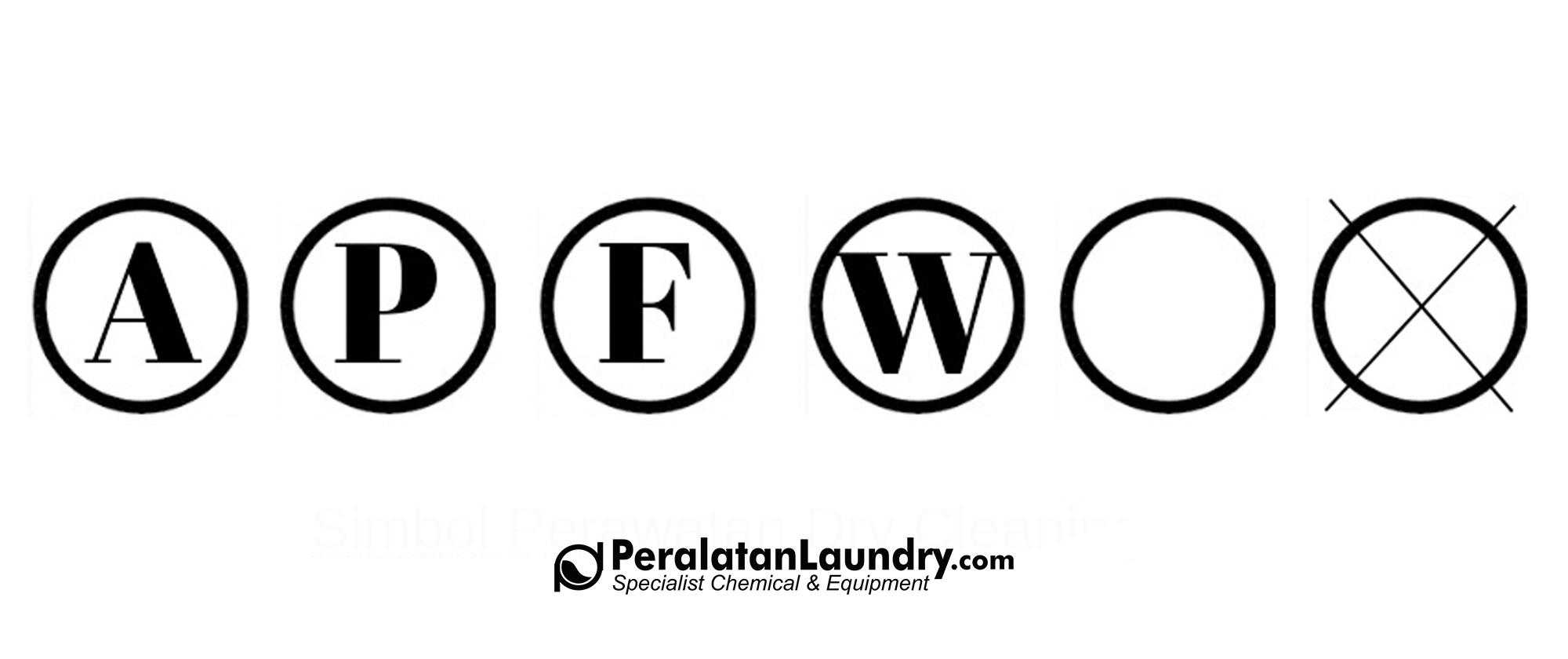 simbol perawatan pakaian dry cleaning