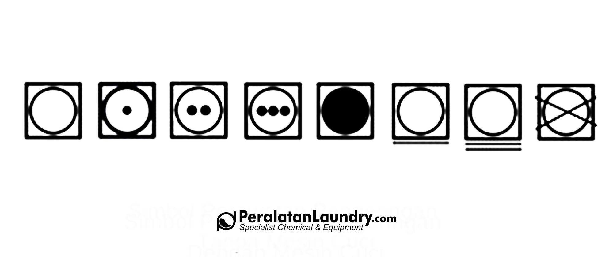 simbol perawatan pakaian pengeringan dengan mesin