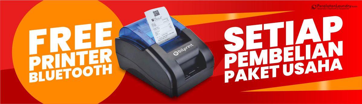 gratis printer bluetooth untuk pembelian paket usaha laundry
