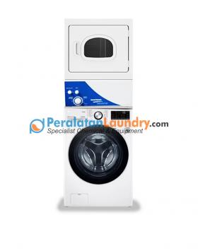 mesin cuci LG 15kg dan dryer speed queen 15kg tumpuk non coin sudah termasuk pindah panel & bisa di branding